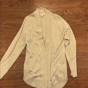 EUC gold Lilly cardigan size M